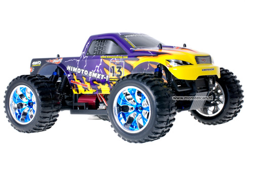 Himoto Brushless Truck Purple Lightning 2.4GHz AANBIEDING!